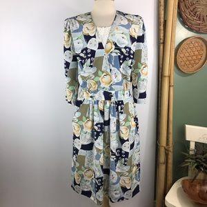 Breli Originals Vintage Sheath Dress Floral